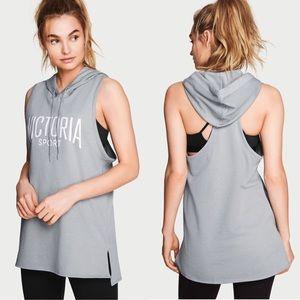 Victoria's secret Sport sleeveless hoodie gray S